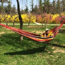 Best Price Outdoor Garden Beach Hammock Hang Bed Travel Camping Swing Survival Outdoor Sleeping Bed for Adult Children