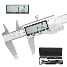 Caliper stainless steel 150mm fraction  metal caliper F / mm / in high precision digital caliper vernier caliper measuring tool недорого