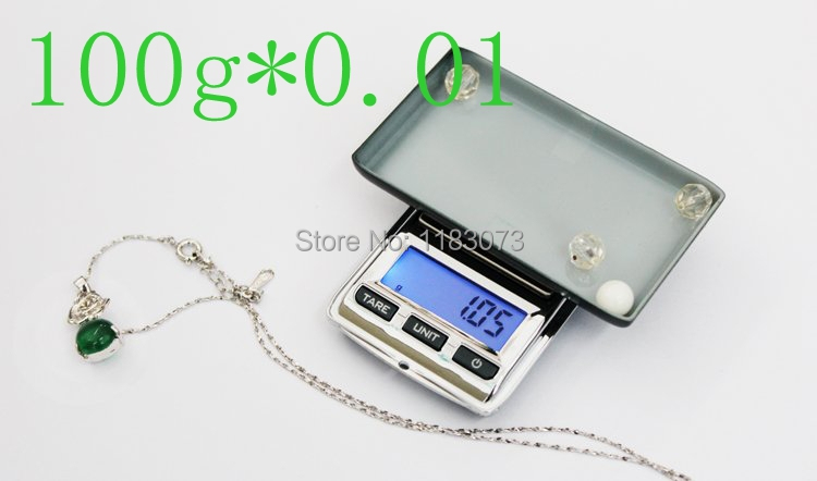 Mini Pocket Jewelry Weighing Scale 100G 0.01g LCD Digital Electronic Diamond Lab Gem Scales Weight Balance Blue Backlight
