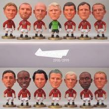 14pcs/lot MU-1999 Soccer Star Dolls Stam Beckham Giggs Scholes Keane Schmeichel 2.5