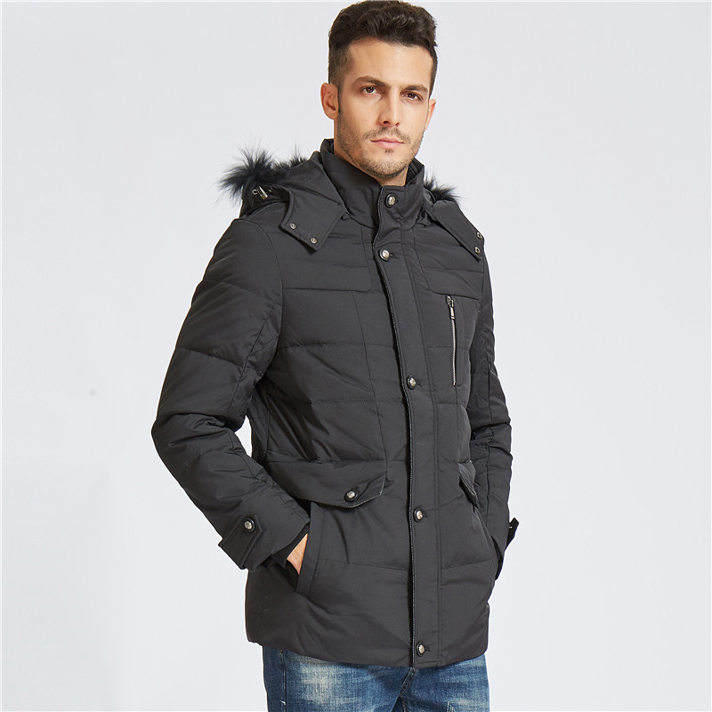 New Long Can Withstand - 40 Degrees Winter Jacket Men Big Real Fur Collar Hooded Duck Down Jacket Big Size 5XL