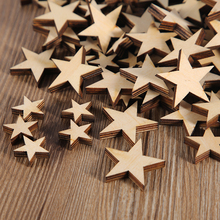 50 qty  Small Laser Cut Wood Stars, Wooden Stars- DIY Craft Supplies Flag Making