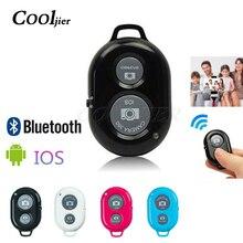 COOLJIER кнопка спуска затвора адаптер управления фотографией дистанционная Кнопка Bluetooth для селфи телефона камеры