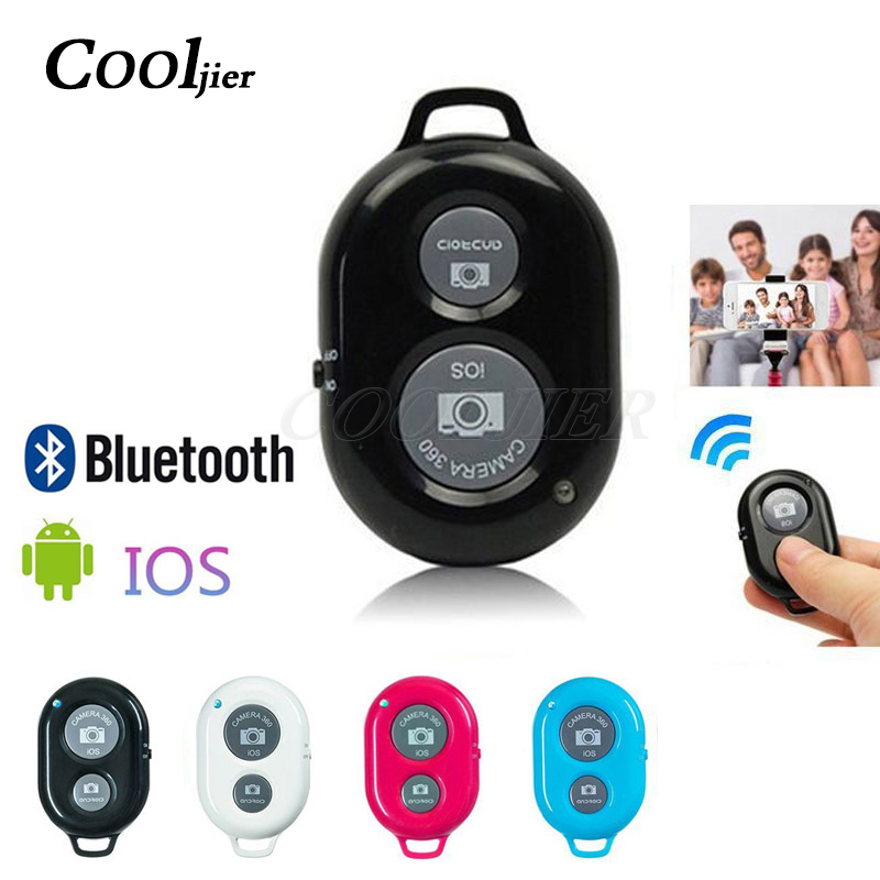 COOLJIER <font><b>Shutter</b></font> Release button controller adapter photograph control bluetooth <font><b>remote</b></font> button For selfie phone <font><b>camera</b></font> image