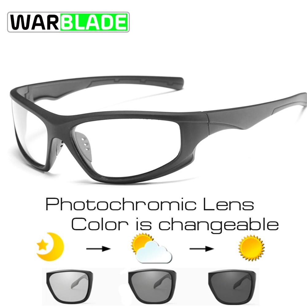 WarBLade Photochromic Polarized Cycling Bicycle Bike Glasses Outdoor Sports MTB Bicycle Bike Sunglasses Goggles Bike Eyewear