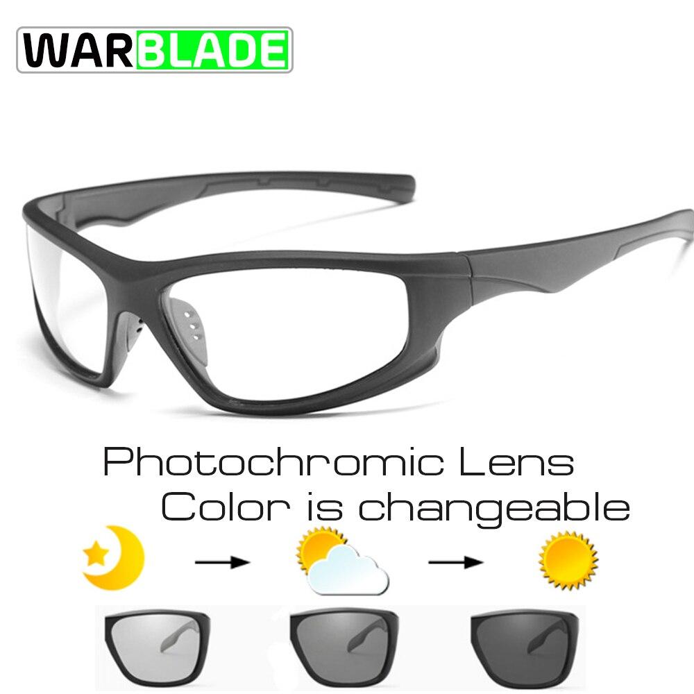 WarBLade Photochrome Polarisierte Radfahren Fahrrad Fahrrad Brille Outdoor Sports MTB Fahrrad Bike Sonnenbrillen Fahrrad Brillen