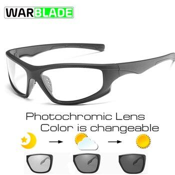 Warblade Photochromic Terpolarisasi Bersepeda Sepeda Sepeda Kacamata Olahraga Luar Ruangan MTB Sepeda Sepeda Kacamata Hitam Kacamata Sepeda Kacamata