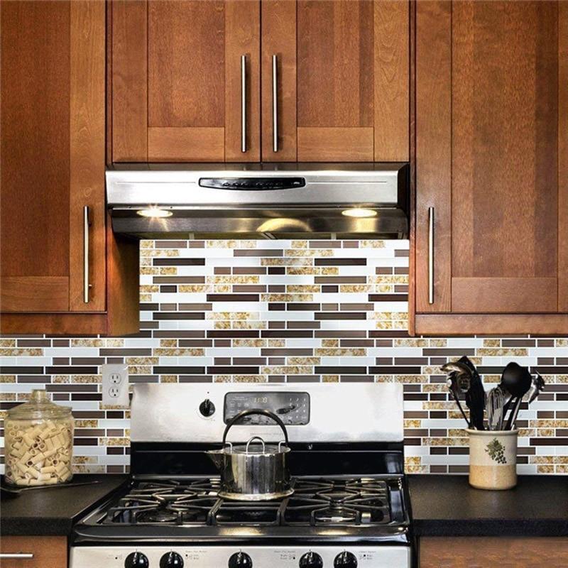 3d Marble Mosaic Peel And Stick Wall Tile Self Adhesive Backsplash Diy Kitchen Bathroom Home