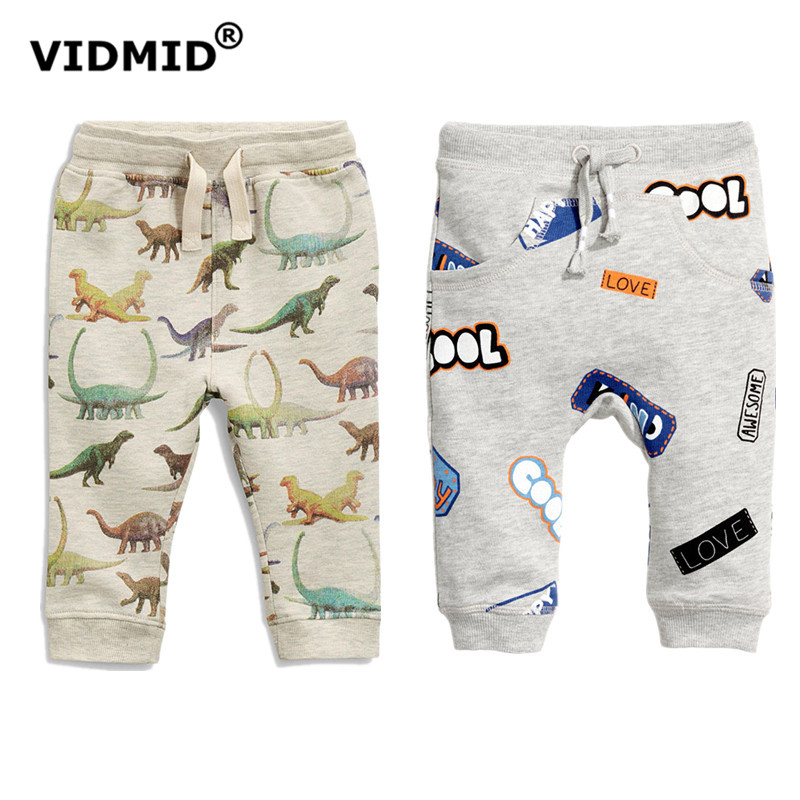 VIDMID Boys Cotton Pants Children cartoonTrousers Brand Autumn Winter Baby Clothes Boys Dinosaur Print Kids trousers 4036 04