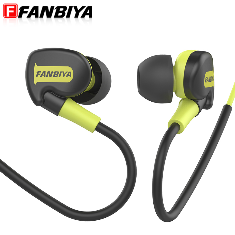 FANBIYA Sport Headphone Earphone with Microphone Earpiece Handsfree Mp3 player Earbuds Game Headset for iphone xiaomi