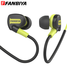 FANBIYA Sport Headphone Earphone with Microphone Earpiece Handsfree Mp3 player Earbuds Game Headset for iphone xiaomi Smartphone