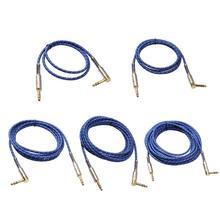 Graus de alta quility 90 Estéreo de 6.35mm Macho para Macho Cabo De Áudio para guitarra elétrica, microfone, amplificador de potência de áudio de combinação