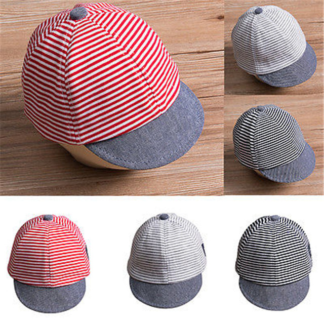 cd2aa09ad0d 2018 Fashion Baby Hats For Boys Girls Baseball Cap Children Cap Boys Sun Hat  Cotton Striped Summer Kids Hip Hop Snapback Cap