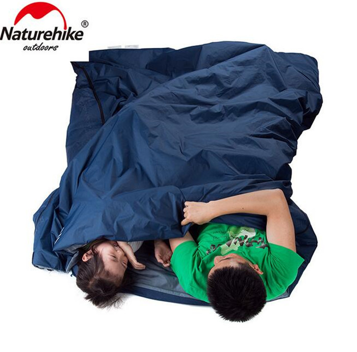 NatureHike Splicing Envelope Sleeping Bag Ultralight Adult Portable Outdoor Camping Hiking Sleeping Bags Spring Autumn 1 9 0 75m in Sleeping Bags from Sports Entertainment