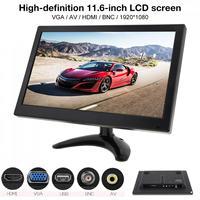 11,6 дюймов HD IPS на тонкопленочном транзисторе ЖК дисплей автомобильный ТВ монитор компьютера MP5 плеер 2 канала видео Вход безопасности для ко