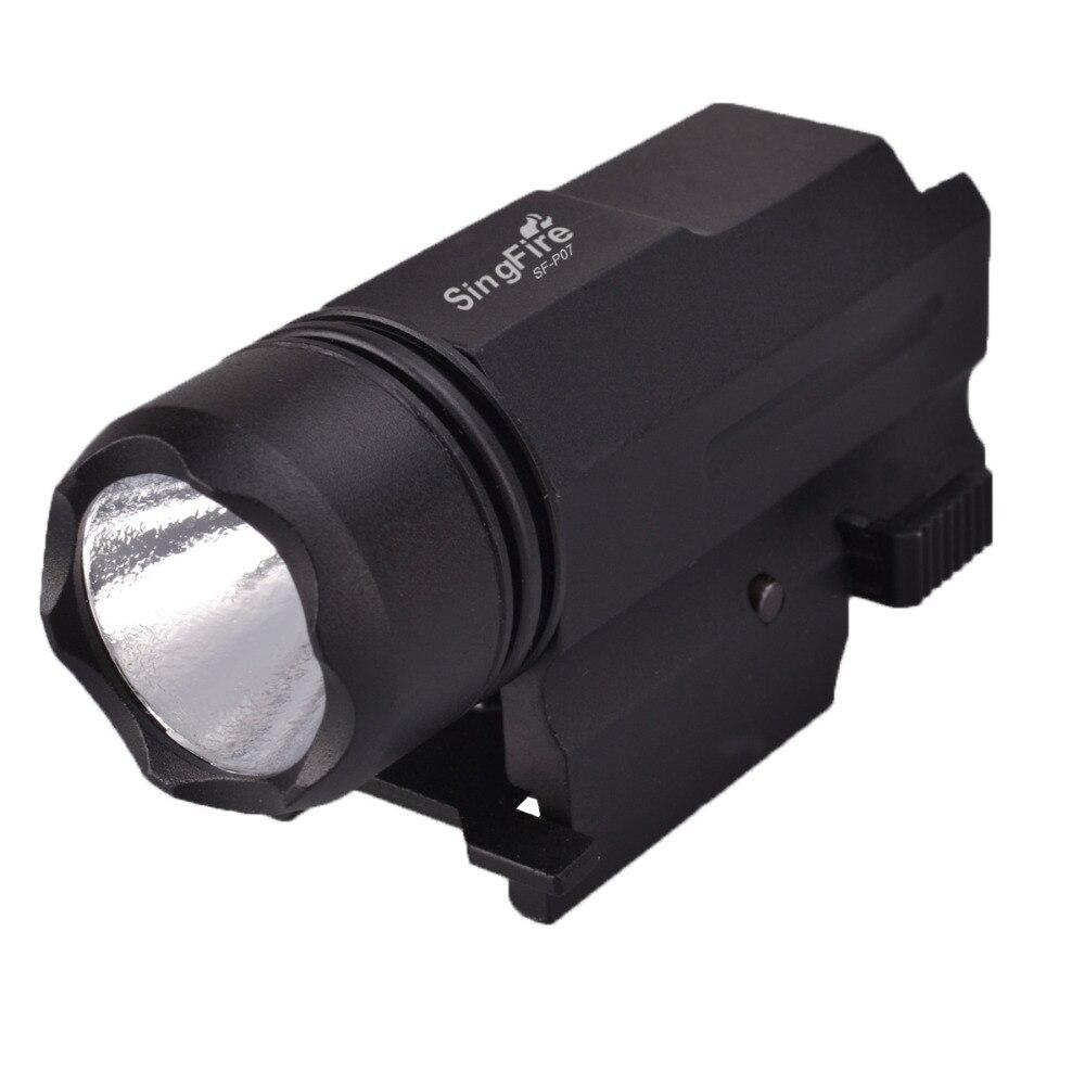 SingFire  SF-P07 CREE XR-E Q5 200LM 2-Mode LED Tactical Pistol Flashlight - Black (1 x CR123A) singfire sf p07 cree xr e q5 200lm 2 mode led tactical pistol flashlight black 1 x cr123a