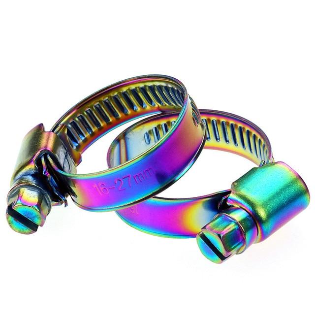 חית רוח אופנוע צינור מלחציים אוויר מסנן קליפים ציפוי צבע עבור הונדה ימאהה קוואסאקי סוזוקי Ktm Bmw 5 pcs משלוח חינם