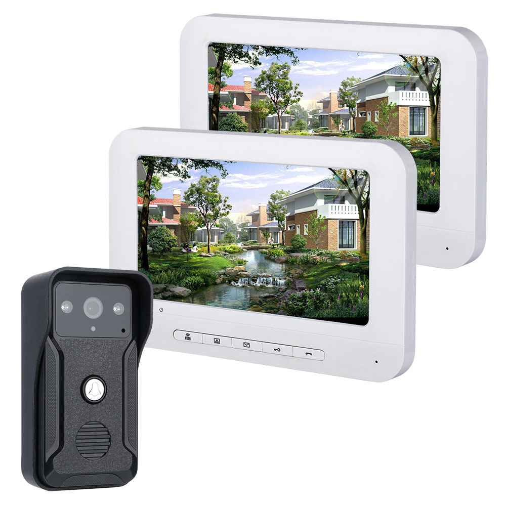 SmartYIBA Video Ring Doorbell Camera Visual Intercom Night Vision Two-Way Intercom Video Door Phone Video Door Entry Phone Call