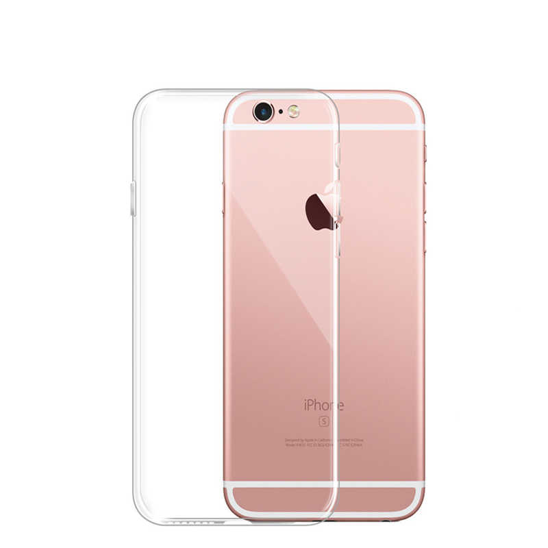 Silicone mềm TPU Trong Suốt Hai Lớp Ốp Lưng Silicon Dành Cho iPhone XS Max XR X 4 4 S 5 5C 5 5S 6 6 S 7 8 Plus Full Bao TPU Cover