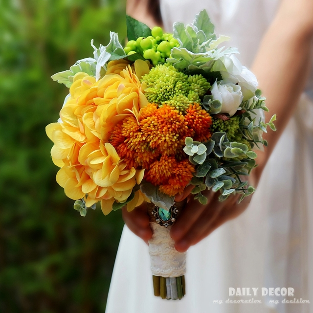 high simulation artificial flower wedding bridal bouquet bridesmaid