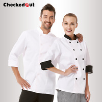 Free Shipping Cook Suit Long Sleeve Chef Uniform Checkout Chef Shirt Cheapest Chef Jacket