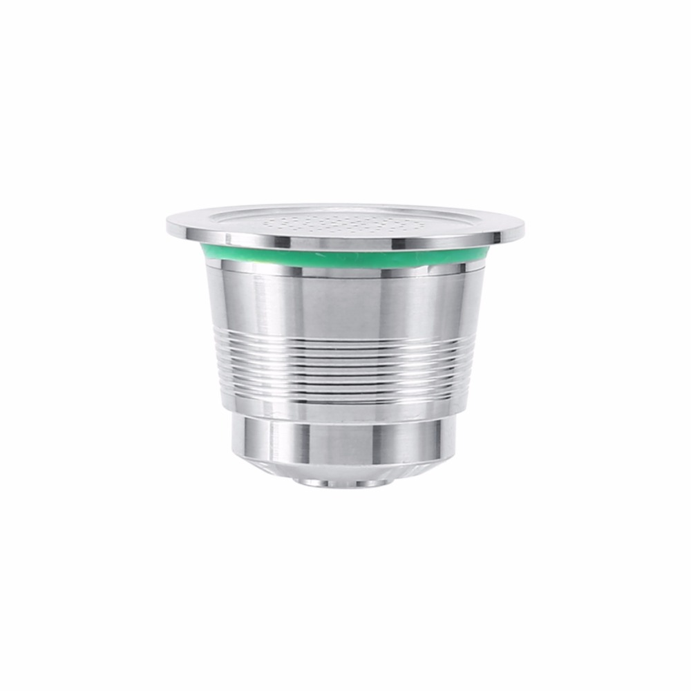 Stainless Steel Coffee Capsule + Plastic Scoop Refillable Reusable DIY Coffee Capsule Cup For Designed Nespresso Machine