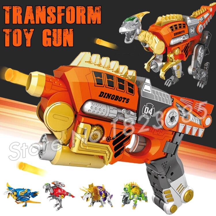 Jurassic World Toy Pistol Gun Soft Bullet Army Toys Air Guns Same as N-Strike Dinosaur Transformation Velociraptor Bursts