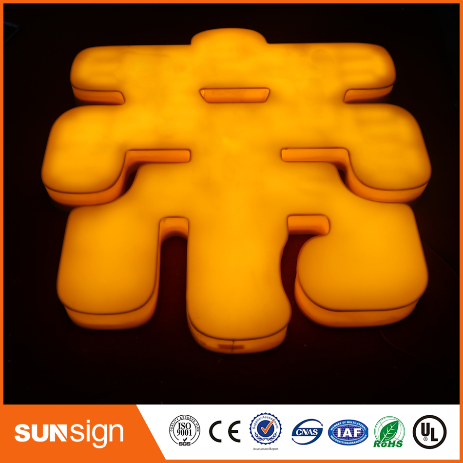 Hot Selling 3D Backlit Lighting Acrylic Mini LED Channel Letter Sign