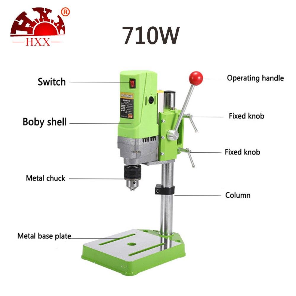 710 W 13mm kleine mini bench bohrer Präzision high speed micro bank bohren und fräsen maschine kostenloser versand