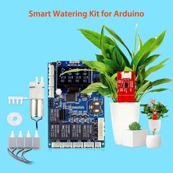 Электрический автоматический Умный набор для полива растений для Arduino электронный садовый водный завод DIY наборы емкостный датчик влажност...