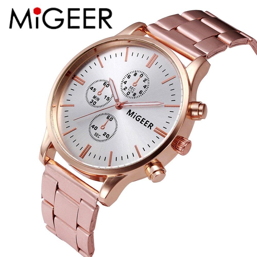 Hot Clock Fashion Man Women Crystal Stainless Steel Analog Quartz Wrist Watch womens Casual Rhinestone Watches