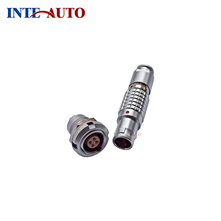 Solder pins connector - plug socket,1B M12, 4 way,circular push pull connector substitute LEMOs ODUs, FGG.1B.304 ECG.1B.304 lemo 1b 6 pin connector fgg 1b 306 clad egg 1b 306 cll signal transmission connector microwave connectors
