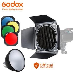 Godox BD-04 Barn Door+Honeycom