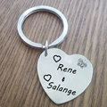 Stainless steel keychain,Custom fashion heart keychain,engraved name tag best gift