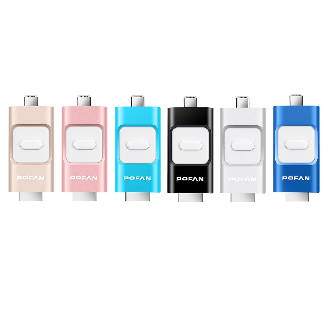 POFAN 16GB Mini Usb Metal Pen Drive Otg Usb Flash Drive For iPhone 5 5s 6