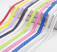 Largest Collection 3/8 inch (9MM /10mm /1cm) 30colors Polka Dots Printed Grosgrain Ribbons ECO-Friendly For DIY Girls Hairbows