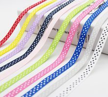 Largest Collection 3/8 inch (9MM /10mm /1cm) 30colors Polka Dots Printed Grosgrain Ribbons ECO-Friendly For DIY Girls Hairbows(China)