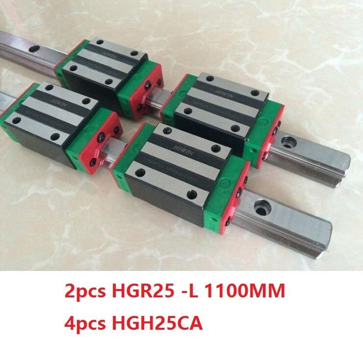 2 pz 100% originale Hiwin guida lineare guida lineare HGR25-L 1100mm E 4 pz HGH25CA lineare stretta blocco per il router di cnc2 pz 100% originale Hiwin guida lineare guida lineare HGR25-L 1100mm E 4 pz HGH25CA lineare stretta blocco per il router di cnc