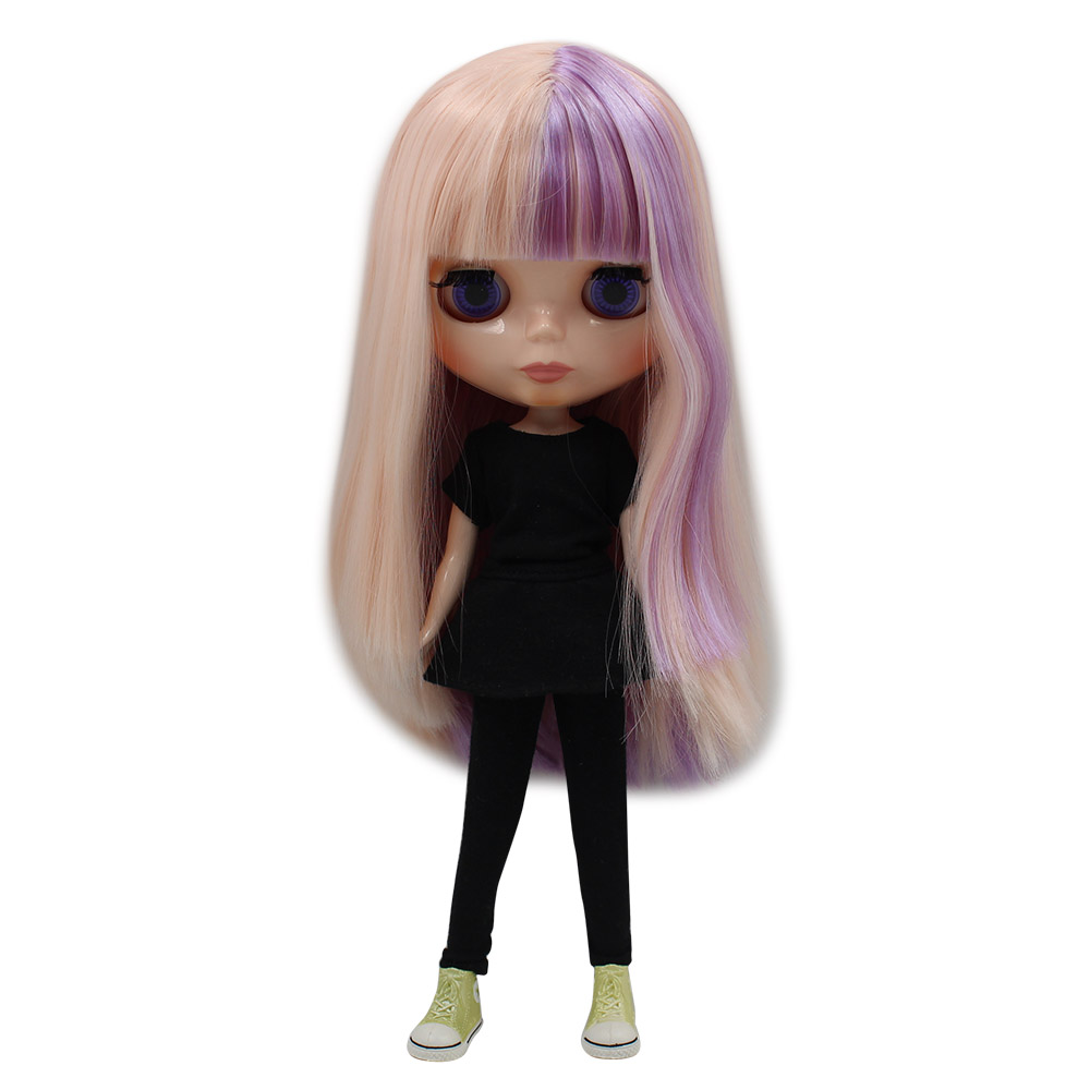 Toys & Hobbies Dolls & Stuffed Toys Blyth Nude Doll 1/6 Long Pink Mix Purple Straight Soft Hair With Bangs Normal Body Natural Skin Diy Girl Gift No.200bl2352/2137 To Make One Feel At Ease And Energetic