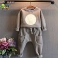 Autumn Boys Clothes Girls Clothing Sets Long-Sleeve Sweatshirt+Harem Pants Plus Velvet Winter Suits For Boys Kids Clothes Girls