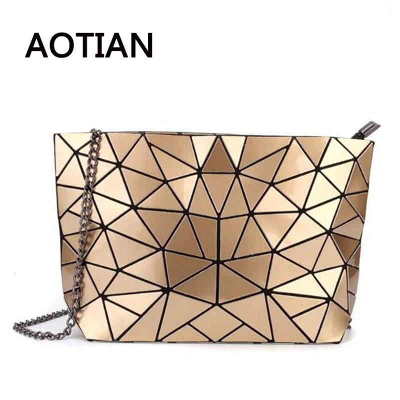 2018 de vară fierbinte vânzare lanț de femei de sac Bao hologramă Crossbody Bag pentru femei Femeile de moda umăr de umăr Femeie Messenge de aur de argint