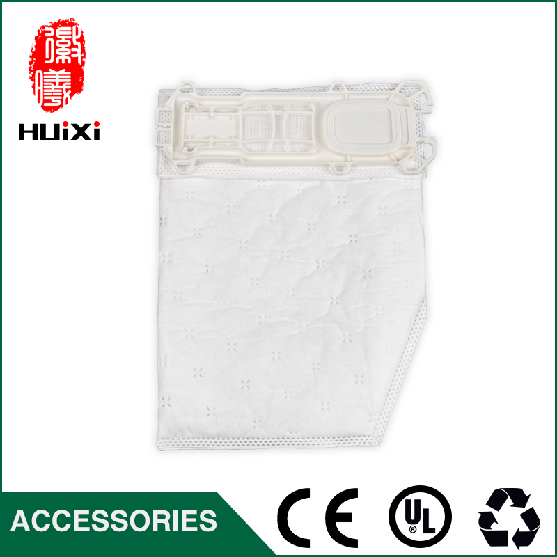 6 pcs Vacuum cleaner white non woven filter bags and change bags of vacuum cleaner parts for VK135  VK136  FP135 etc 1 pcs universal vacuum cleaner non woven bags and washable dust bags with high efficiency for ro1121 ro1124 etc