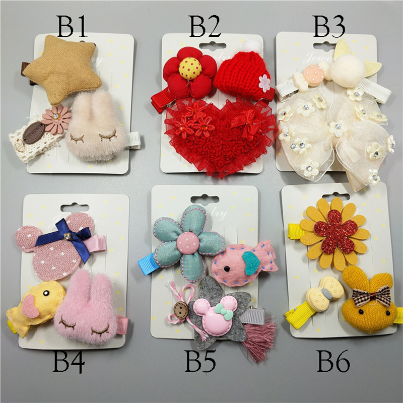 3 Pcs Children cartoon rabbit hairpins lovely princess hair clip Girls cloth Hair accessories for kids hair ornaments headdress baby cute style children accessories hairpins rabbit fur ear kids girls barrette lovely hair clip