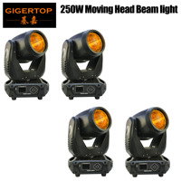 Freeshipping Super 250W Moving Head Light Beam Effect 3 Prism Lens Professional Stage Effect DJ Equipment DMX Control
