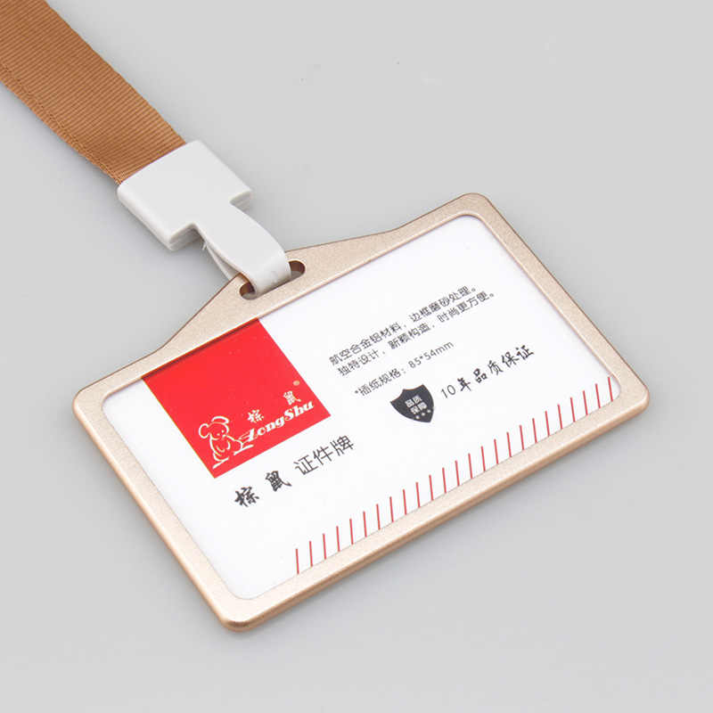 Etaofun Cross Metallic Id business Card badges Aluminium alloy Staff badge holders Exhibition identification card covers on work