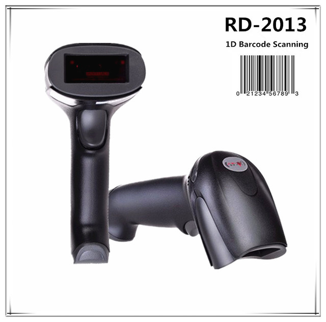 USB 1D portable Barcode Scanner Handheld Laser Bar Code  Reader for POS System Supermarket