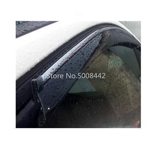 Image 2 - ل سوزوكي S cross كروس SX4 2014 2015 2016 2017 غطاء سيارة البلاستيك نافذة الزجاج الرياح قناع المطر/الشمس الحرس تنفيس الإطار 4 قطعة