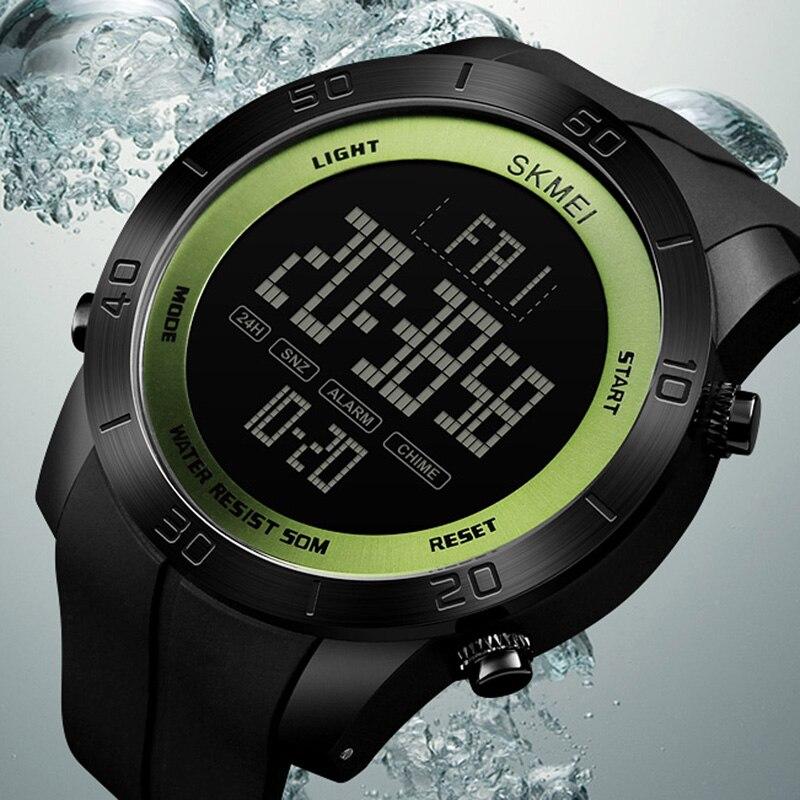 Esportes dos homens Relógios de Mergulho 50 m Eletrônica Digital LED Relógio Militar Moda Masculina Casual relógios de Pulso Relógio Skmei Marca de Luxo Quente