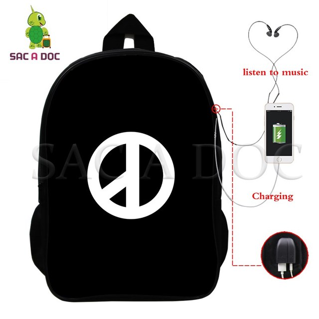 8c0cfe9ac GD G Dragon Multifunction Backpack USB Charging Laptop Backpack For  Teenagers Students School Travel Rucksack GD