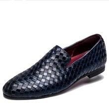 2019 zapatos de los hombres de la marca de lujo zapatos casuales de cuero de Oxford de conducción zapatos de los hombres mocasines italiano zapatos para hombres tamaño 38-48